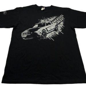 Ford Mustang Boss 302 Black T-Shirt Men's Size L